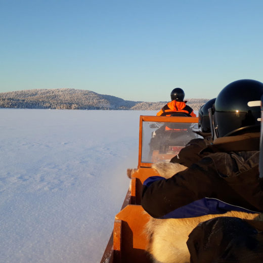 Sleigh ride Lake Inari Finland
